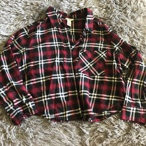Forever 21 plaid crop top size SMALL